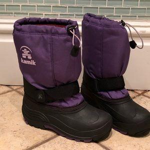 Kamik Winter Boots, purple, wool liners, girl 4